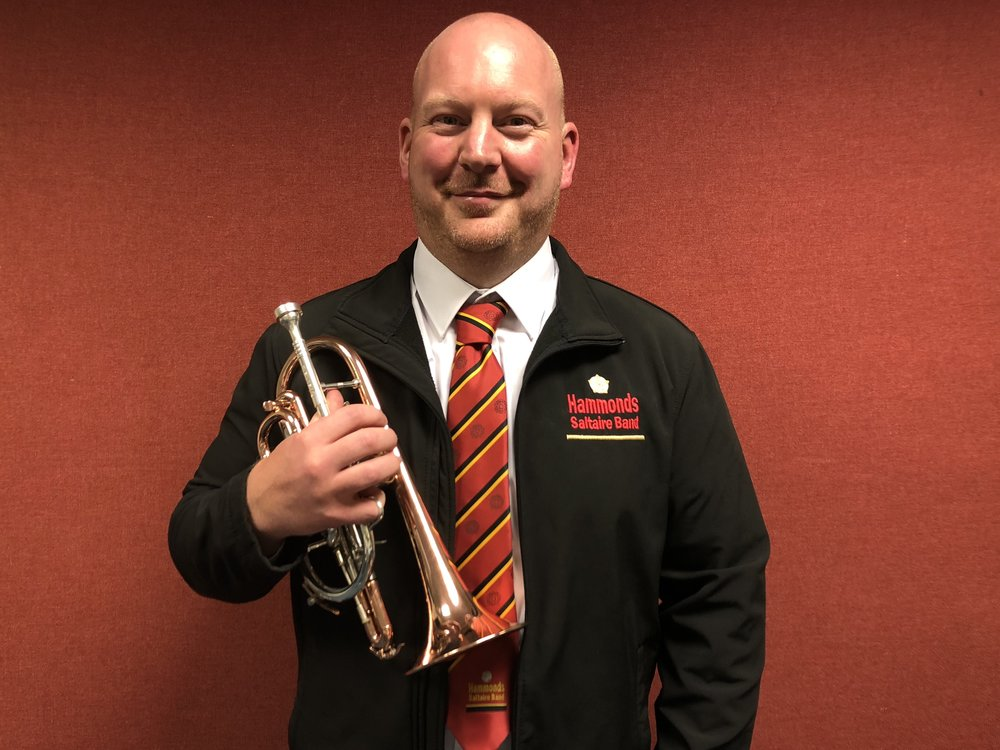 Neal Booth, the band's new assistant principal cornet player
