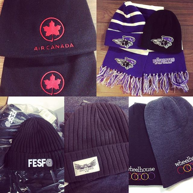 Toque week. Kinda like shark week but without the sharks. Unless of course the sharks were wearing toques. #wemakecoolshit #ottawa #hatgame #toque #accentlogos #promotion #keepwarm