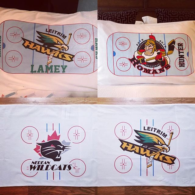 Guess what we did today. Coolest End of year gift ever. Order single player or team set.  We can add ur association- face - team - favourite pet. Hit us up with ur request. #wemakecoolshit #accentlogos #ottawa #hockey #pillow #pillowtalk #customprinting #hockeymom