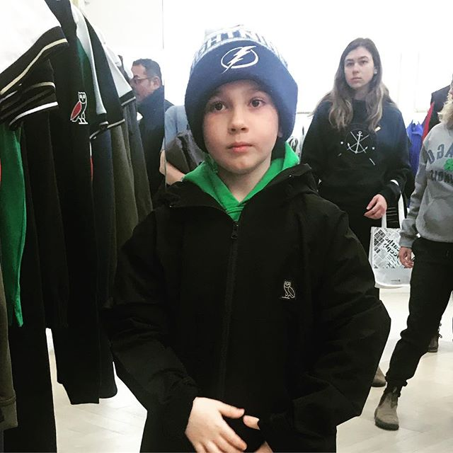 "OVO. ""Ottawa's very Own"". On A 7 year olds list of things to see in TO.  #accentlogos #wemakecoolshit #ovo #octobersveryown #drake @champagnepapi 7 year olds need clothes too"