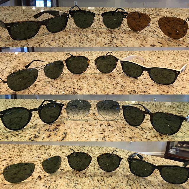 Thankful for a sunny Monday 🌞!!! Come check out our selection of Raybans. #aviators #wayfarers #keyholes #eyecarenorman