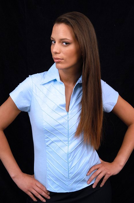 Blanche Haute Chemise Couture Femme Façon cRqL35S4jA