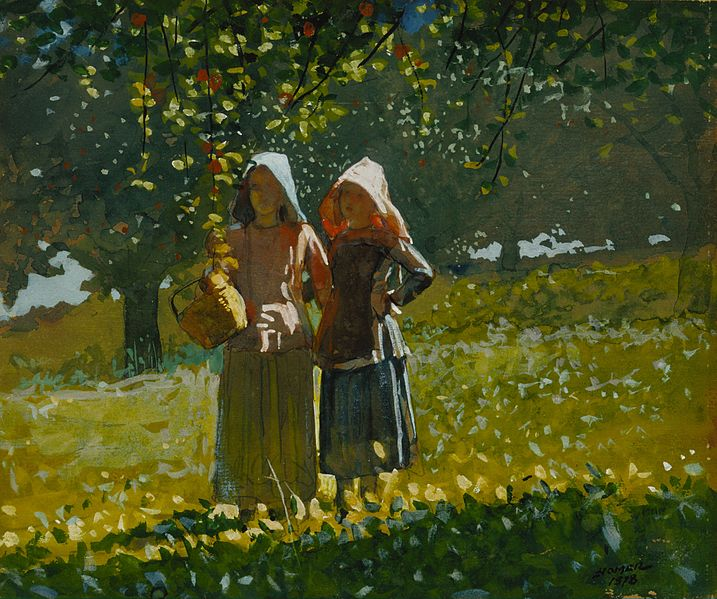 717px-Winslow_Homer_-_Apple_Picking