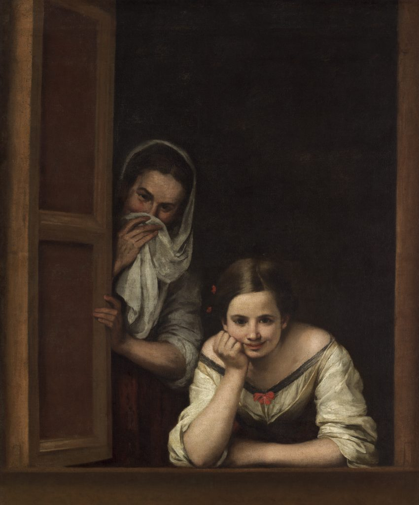 Bartolomé Esteban Murillo (Spanish, 1617 - 1682 ), Two Women at a Window, c. 1655/1660, oil on canvas, Widener Collection