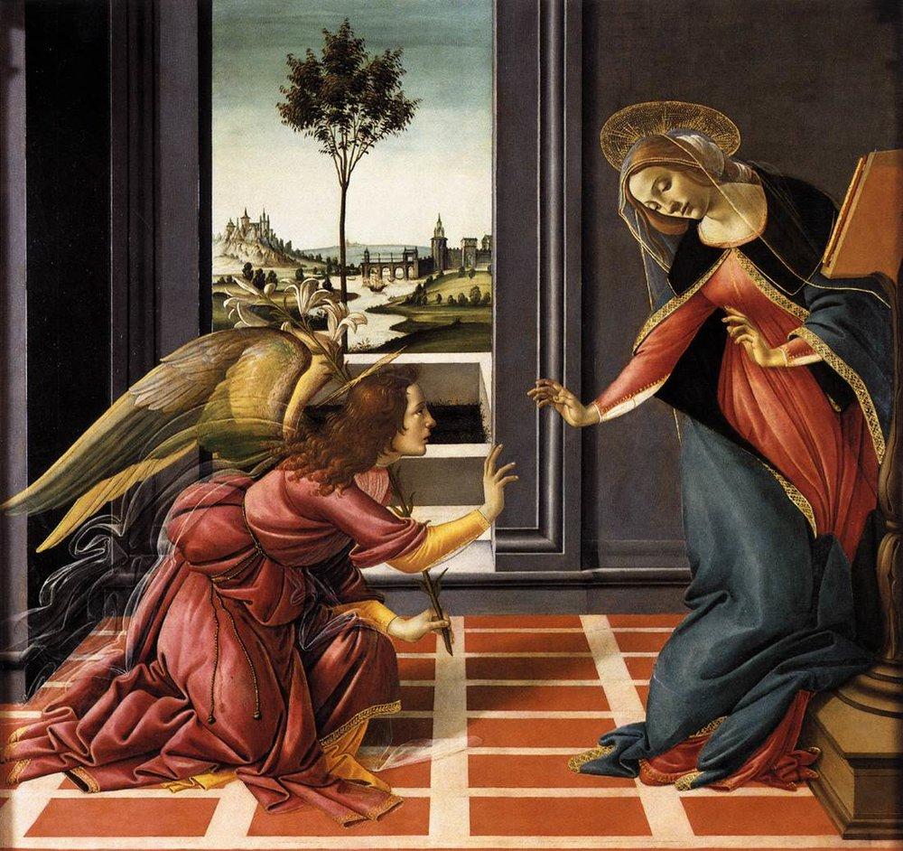 Annunciation,Botticelli
