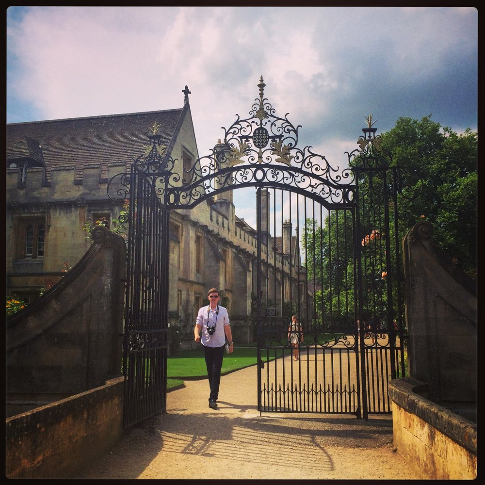 The gates to Addison's Walk