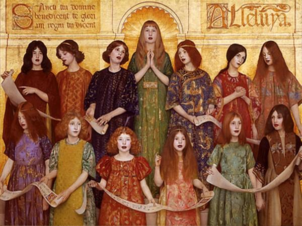 Alleluia,  by Thomas Cooper Gotch