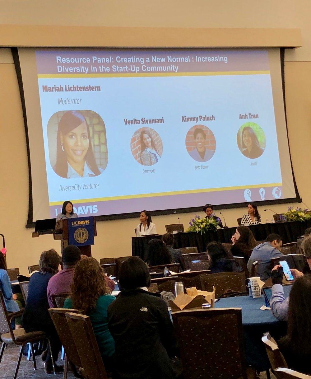 Anh was joined by  Kimmy Paluch of Beta Boom  and  Venita Sivamani of Dermveda  in the panel, which was moderated by  Mariah Lichtenstern of DiverseCity Ventures .