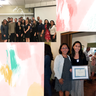 SEA 2018 Graduates (upper left), Program Director Christy Serrato & 2018 Alumna Nicole Garcia (lower right)