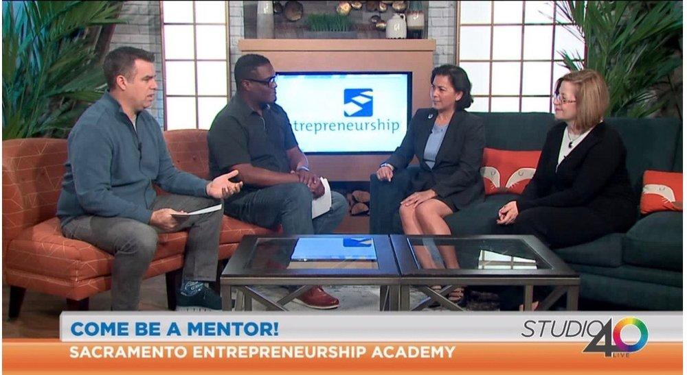 Scott Moak and Big Al Sams of Fox40 Studio Live sits down with SEA alumna Christy Serrato and 2019 Fellow Dr. Kris Lea