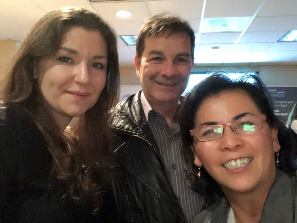 Asian Opportunities Networking Reception:  SEA Alumna Deana Daly and Program Director Christy Serrato with Board Member Christian Renaudin