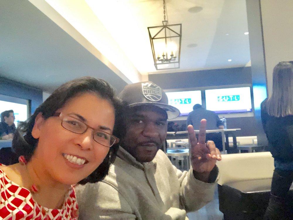 Christy Serrato with 2019 Fellow Mark Martin
