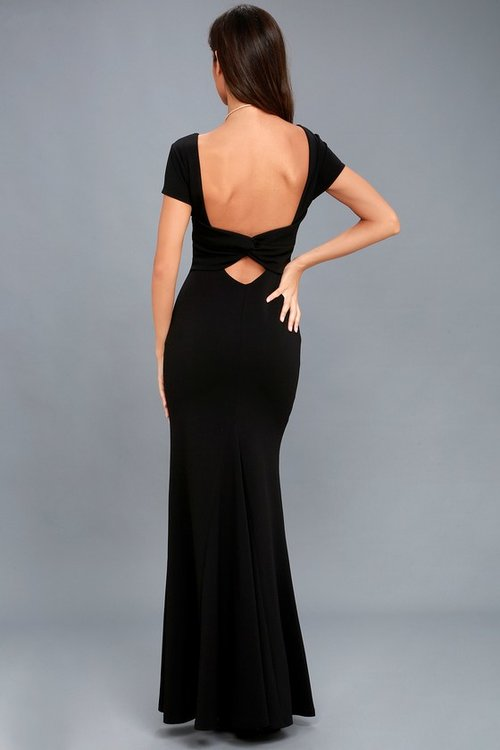 Endless Love Black Backless Maxi Dress Dclassica