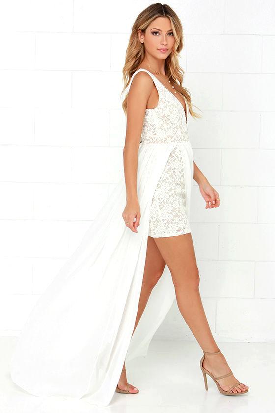 e288d0e9d6b0 Make Way for Wonderful Off White Lace Maxi Dress — d Classica