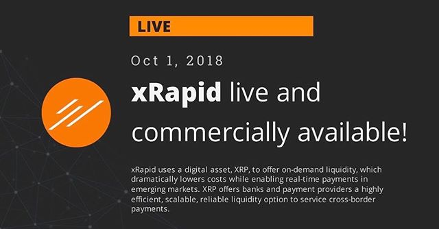 xRapid is live!!! - https://ripple.com/insights/ripple-highlights-record-year-xrapid-now-commercially-available/ - www.cryptopilots.com - - #xrp #ripple #xrapid #live #xvia #xcurrent #multihop #xrpthebase #xrpthestandard  #xrpcommunity #2018 #theyearofxrp #smartcontracts #blockchain #utility #bitcoin #litecoin #vechain #ethereum #invest #coinmarketcap #coinlib #binance #coinbase #cryptopilots