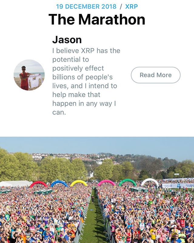 Check out my latest blog through the XRP community on the link below, I'll be running the marathon in Brighton in April and you can donate through XRP!! A new way to fundraise! Micropayments are the future and so is XRP! - - https://xrpcommunity.blog/the-marathon-2/ - #xrp #ripple #charity #marathon #cryptocurrency #blockchain #digitalassets #fundraise #micropayments #xrptipbot #xrpcommunity #goodsoulsgroup #childrenontheedge #bitcoin #ethereum #christmas #giving