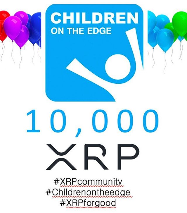10,000 XRP raised for children on the edge thanks to the XRP community! This is the way to fundraise! Micropayments are the future!  #XRPcommunity #XRP #blockchain #ripple #goodsoulsgroup
