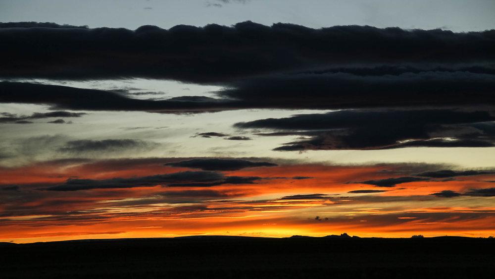 Sunset on the pampa alta