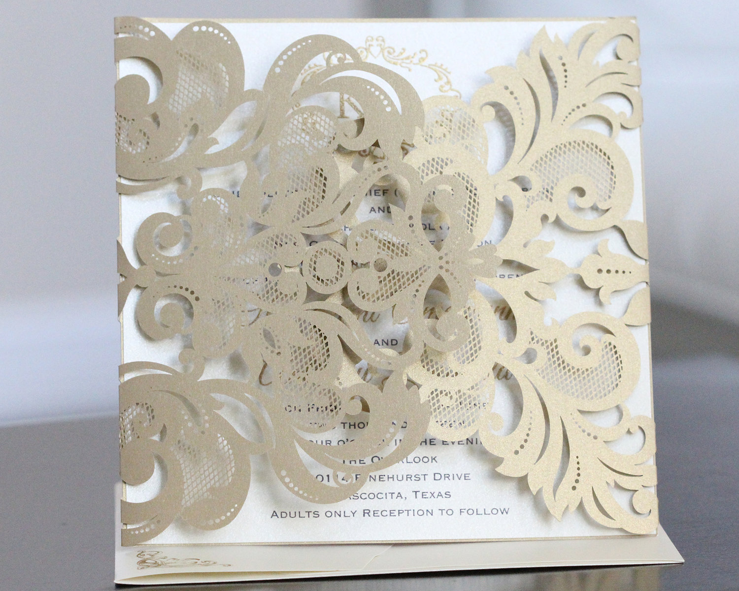HARRIS - Lasercut Gatefold Invitation — Laced Paper Designs ...