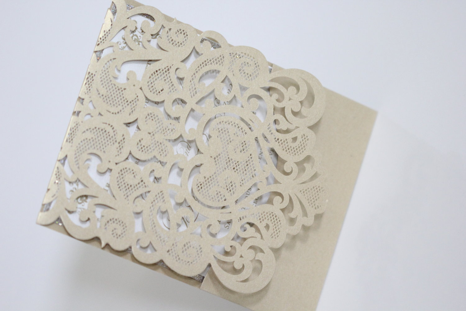 DANIELLE - Lace Lasercut Pocket — Laced Paper Designs - Wedding ...