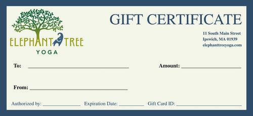 Gift cards elephant tree yoga gift card templateg yadclub Gallery