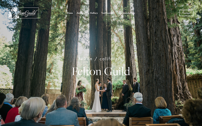 Felton Guild - Felton Guild is a one-of-a-kind wedding venue, featuring a majestic redwood cathedral, located in the Santa Cruz Mountains.