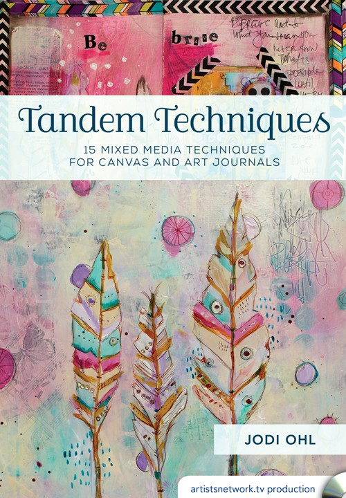 TANDEM TECHNIQUES - Mixed media artist, Jodi Ohl, teaches you to think thoughtfully about compositions. This will not only save time when creating a piece, but will also give you new techniques and tools to make a beautiful canvas. From reusing mark-making tools to using glaze and stencils, learn how to make an expressive canvas and art journal spread!