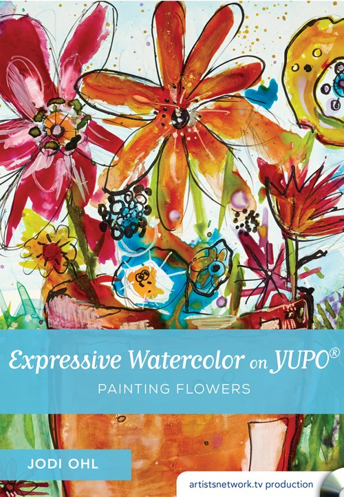 EXPRESSIVE WATERCOLOR  ON YUPO - You may enjoy watercolor painting, but bring it to a more skillful level by using in-depth techniques, such as applying tissues, sponges, and different media to your artwork. Learn India ink details and how to best use mark-making tools. You will create floral compositions while experimenting with the dozens of ideas Ohl provides you with. Explore and have fun with your watercolor paints on YUPO® paper!