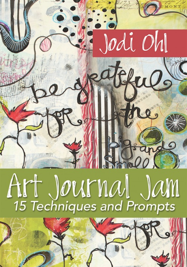 ART JOURNAL JAM - In this video, Jodi Ohl will guide you through a variety of art journaling techniques that you can then mix and match in future journal pages. Begin by making your background with several spreads in different ways including stenciling, collage and swatches of color. Next, develop these spreads with unique, stylized faces, handmade marks and personalized lettering. Order your copy today!