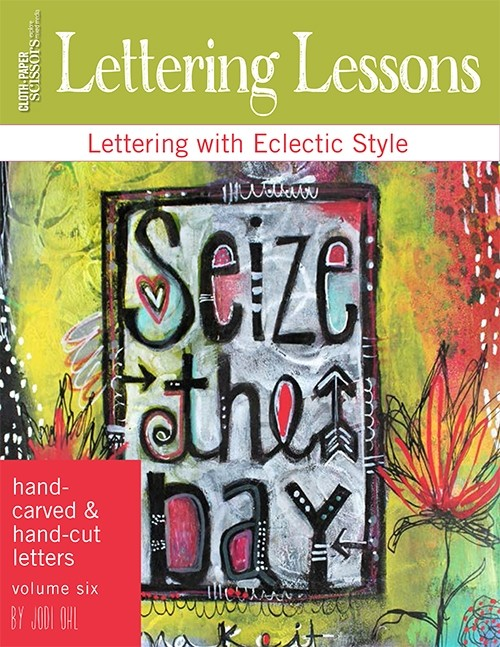 With this month's Lettering Lesson, take your lettering in a new direction with your own handmade stamps. Jodi Ohl will show you how to carve initials, words, and inspiring phrases, as well as how to create fun stamps with craft foam. Add dimension and interest to journal pages, paintings, collage, and more! Instantly download your lesson today to create your own one-of-a-kind stamps!