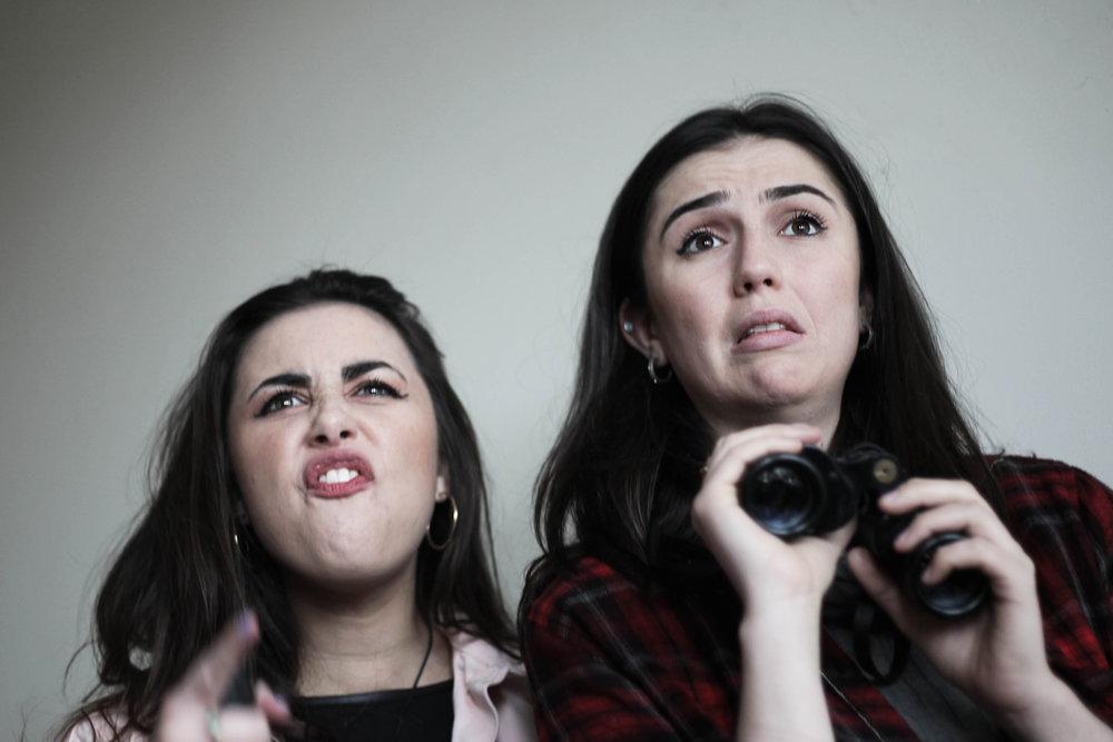 Emily Fox (May) and Alexandra Conlon (Caitlin)
