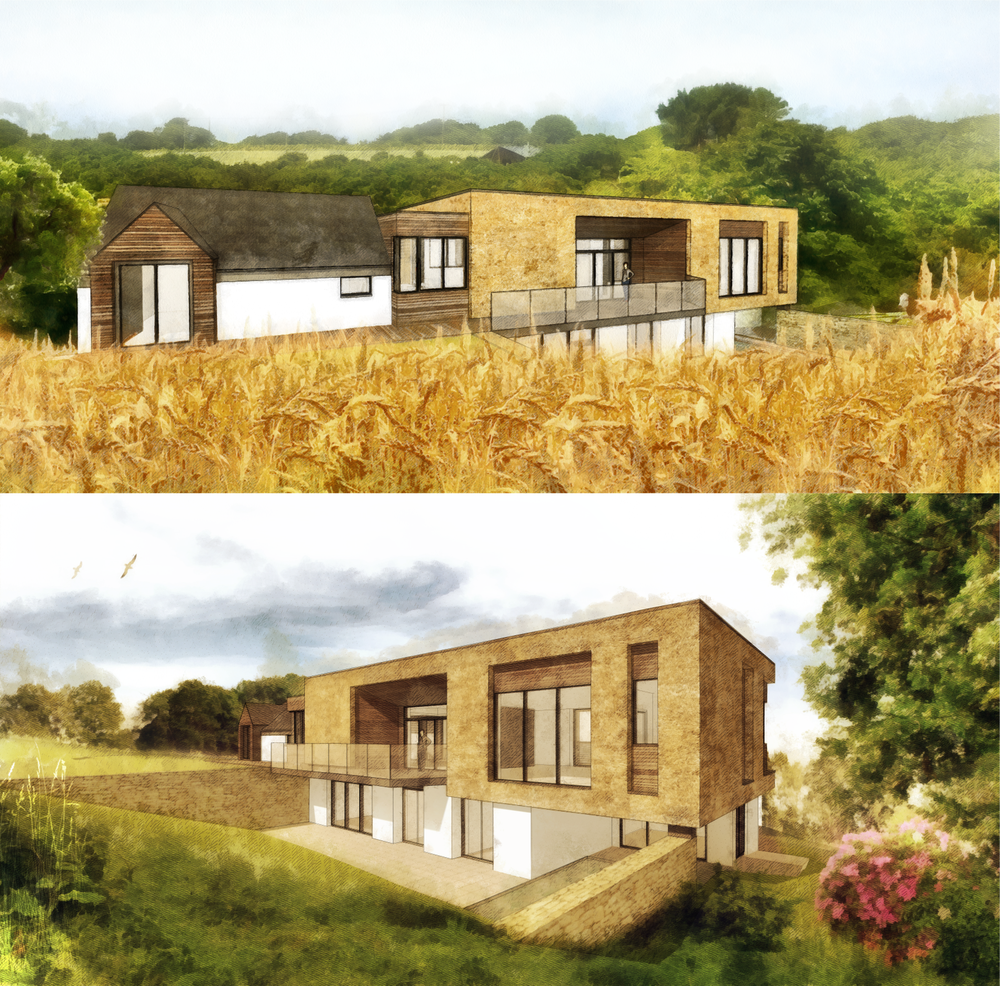 Concept proposal by Lilyrose for a Cornish  home and Ayurveda clinic using home grown wheat.