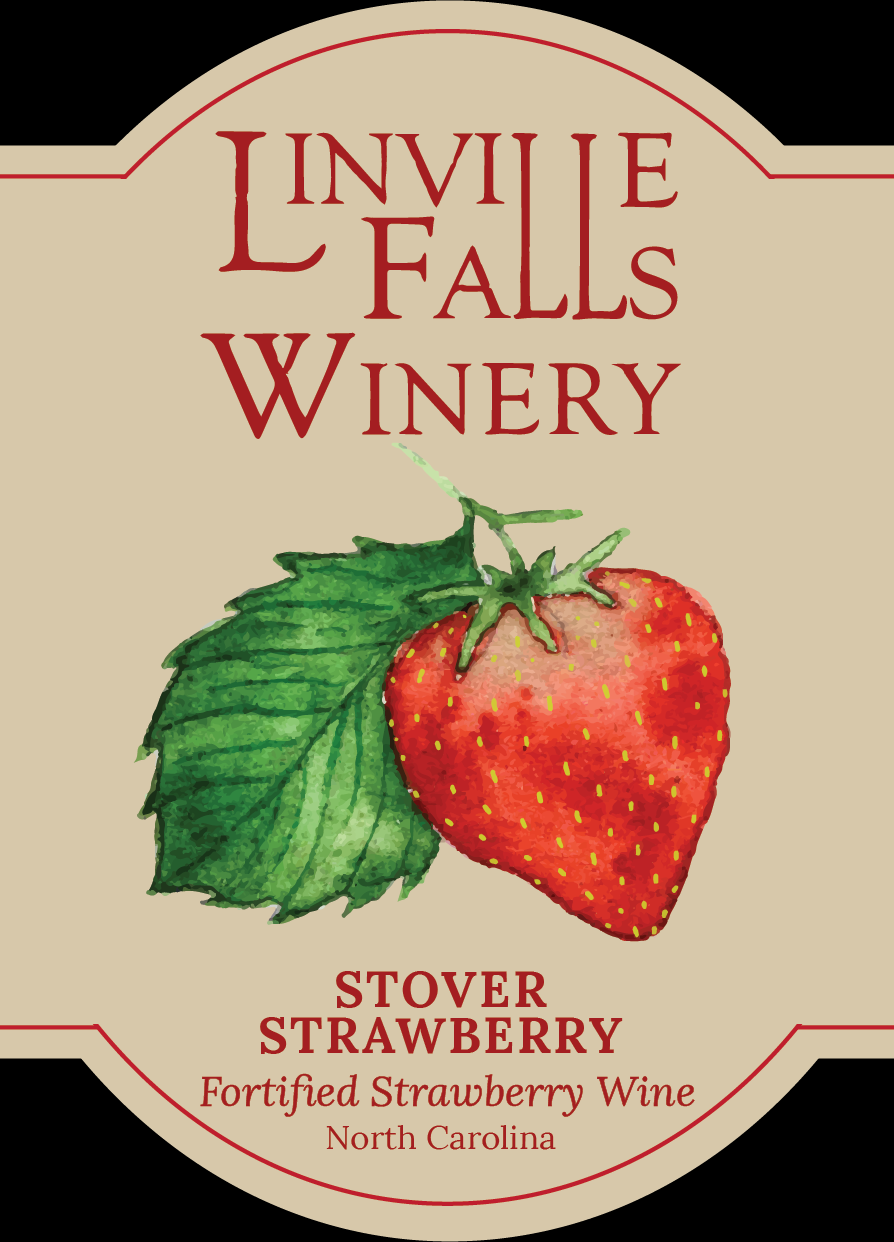 Stover Strawberry - Stover was the original cultivator and proprietor of our land back in the 1800s. He's to thank for landmarks like the Red Barn, our heirloom apple trees, and even an old Concord grapevine.This fortified Strawberry Wine calls us back to earlier days. It's strong & sweet, just as things