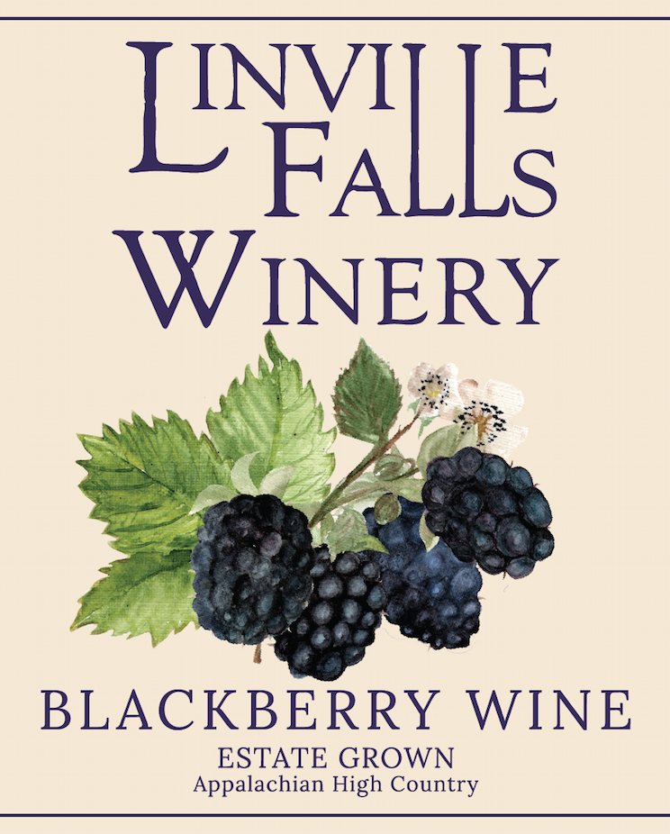 Blackberry - Mountain grown blackberries are full of rich, juicy flavor - and that could not be more true of our Blackberry Wine. We enjoy pairing this with barbecue or brisket!