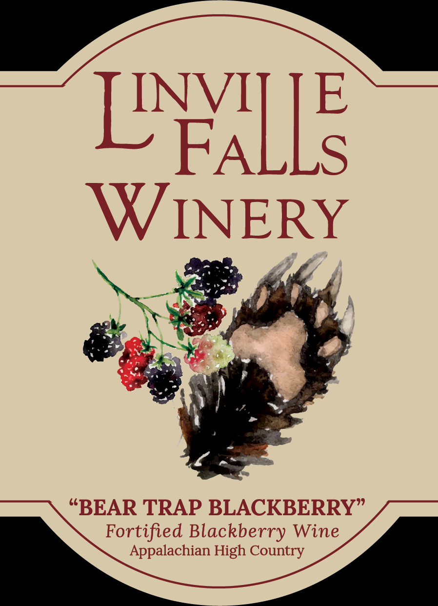 Bear Trap Blackberry - Mountain blackberries have long time been a tantalizing treat of many a bear and human alike, and it would seem we have mysterious patches of missing blackberries every year to prove it! We made this mountain delicacy even more delightful in this fortified wine.
