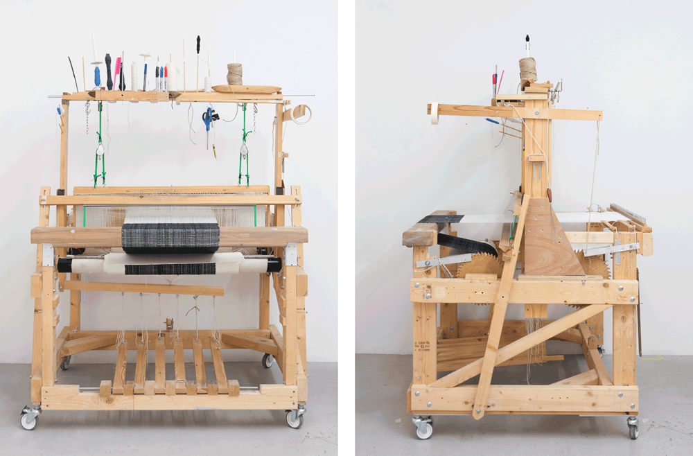Max Mosscrop:  Loom , 2014-17, wood, metal, various materials;  165 x 120 x 110cm