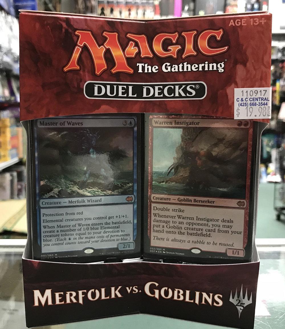 Magic the Gathering. Duel Decks Merfolk vs. Goblins.