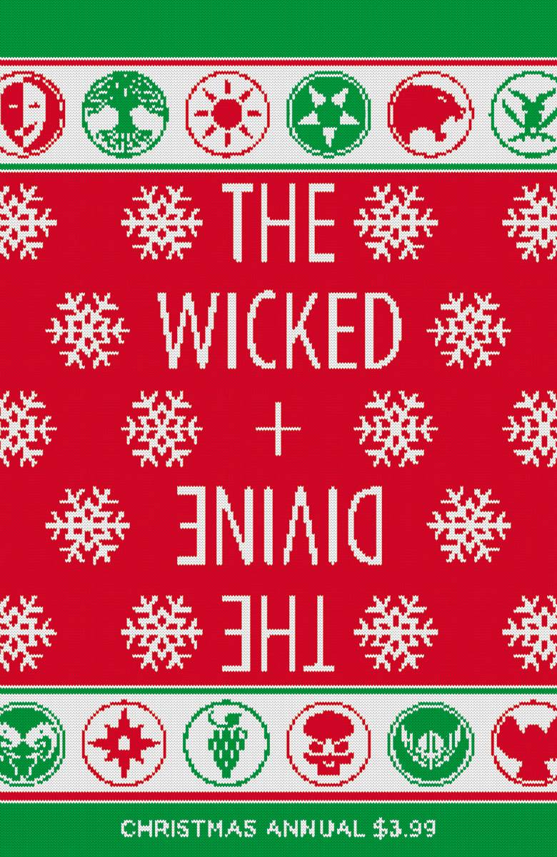 The Wicked + The Divine #1 Annual  Ugly Christmas sweater cover. I love it