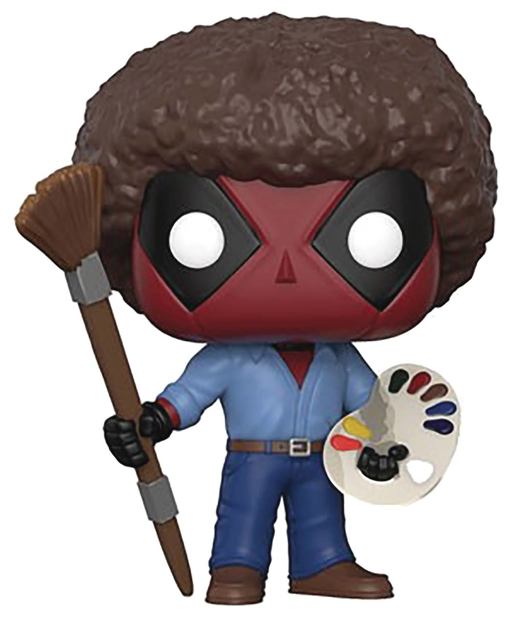 Funko Pop Deadpool Bob Ross Parody