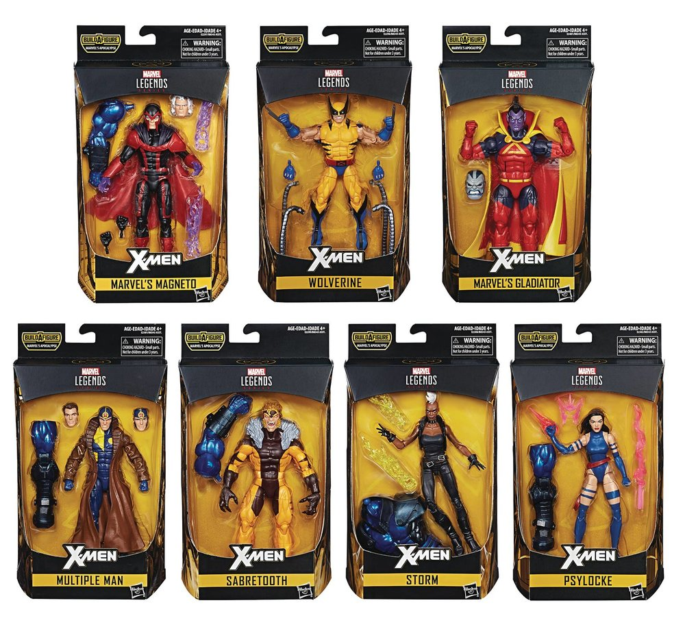 x-men legendary assortment. Psylocke, storm, sabretooth, multiple man, magneto, wolverine, gladiator