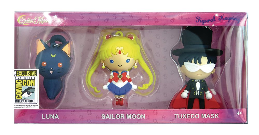 Monogram SDCC 2017 Sailor Moon Keychain set