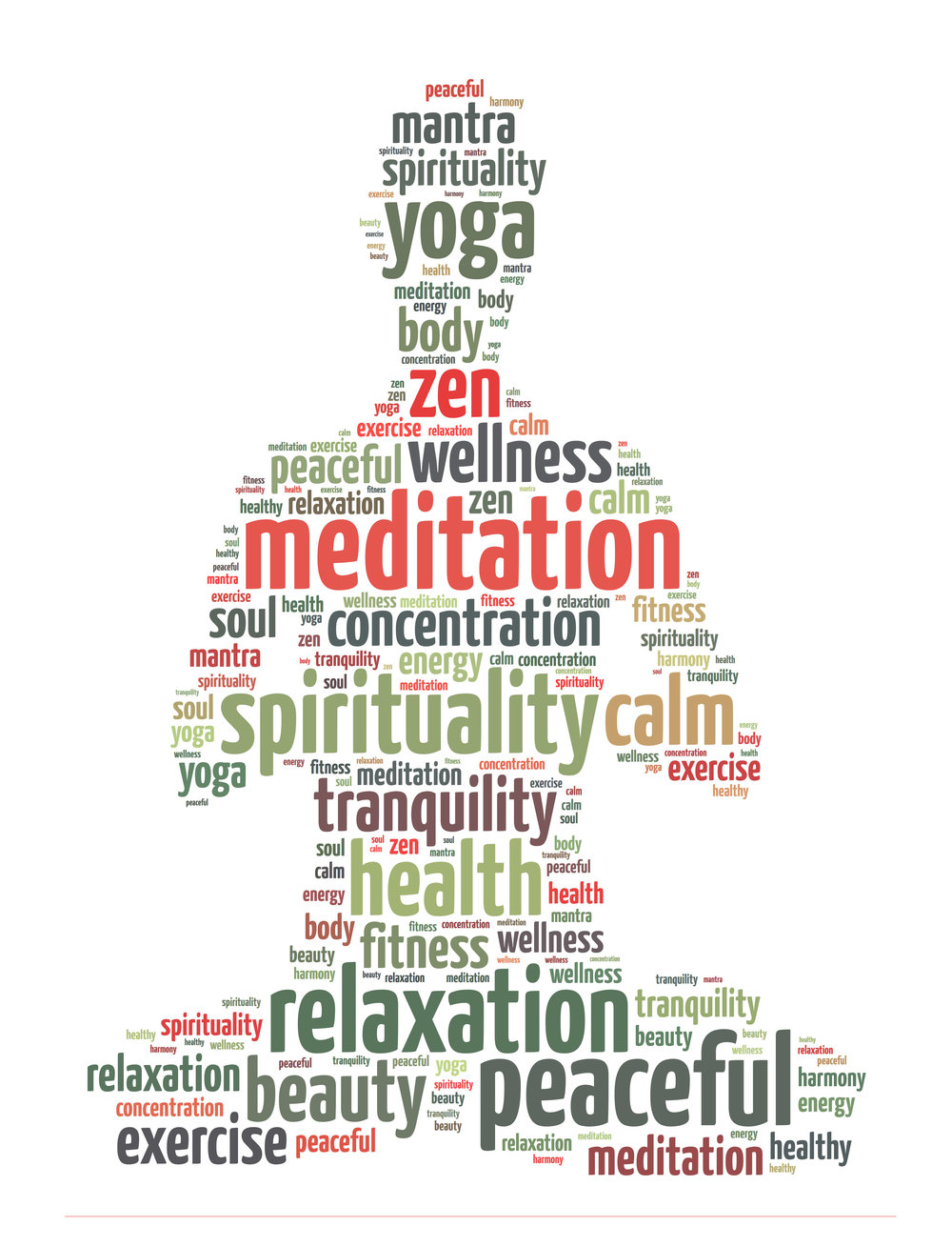 relaxation and health words image