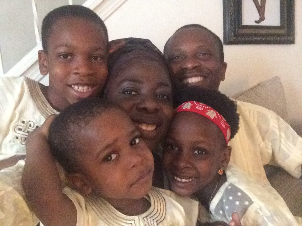 Ola Shobayo and his family