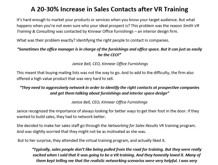 Case Study - VR Corporate Training -