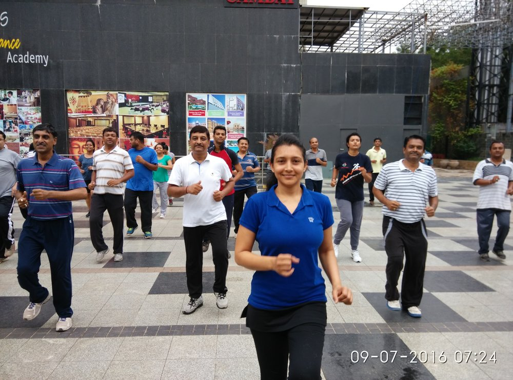 Aerobics workout, July 2016