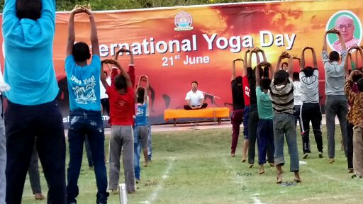 international Yoga Day celebration with Daridra Narayan (Slum children), Jun 2014