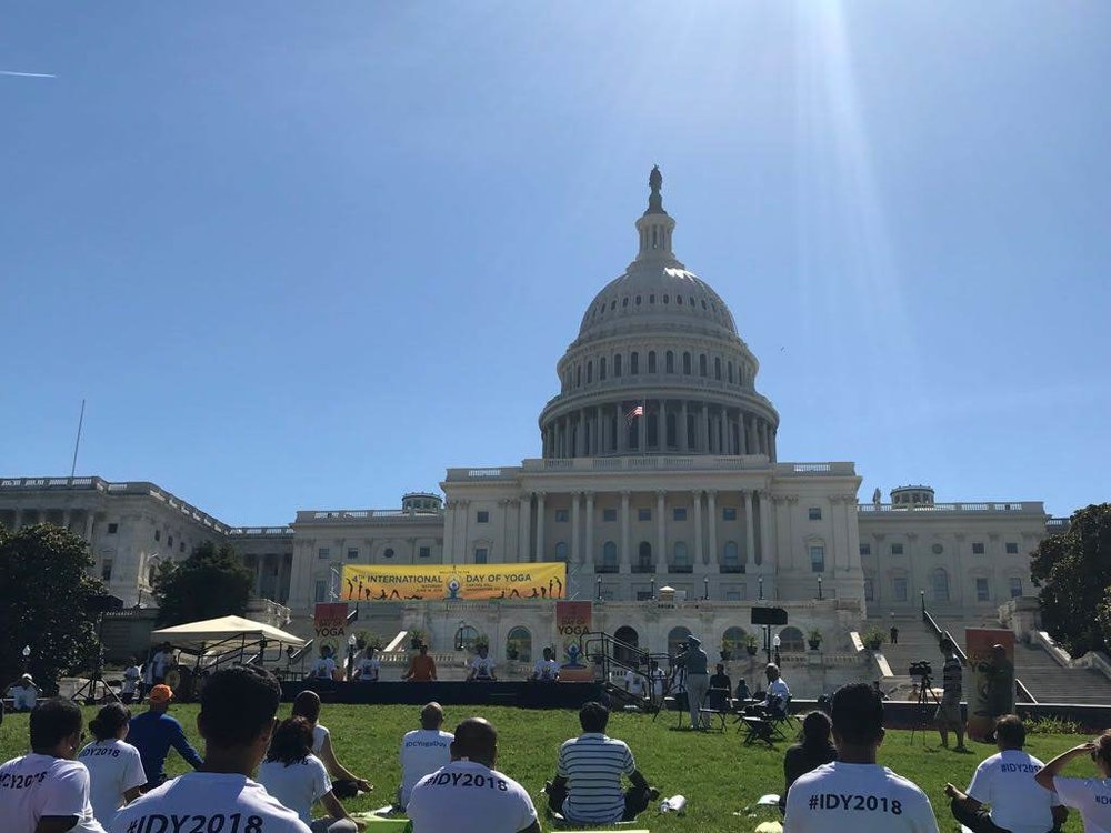 International Day Of Yoga at Capitol Hill, Washington D.C., Jun 2018