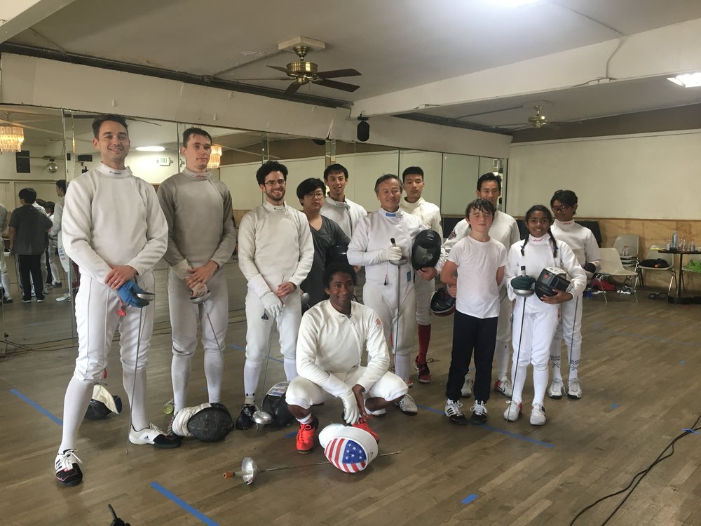 Olympian Jason Pryor led the first Hollywood Fencing Studio Epee Clinic