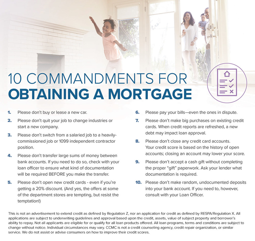 Mortgage Process - Ten Commandments for Obtaining a Mortgages - ActOn.jpg