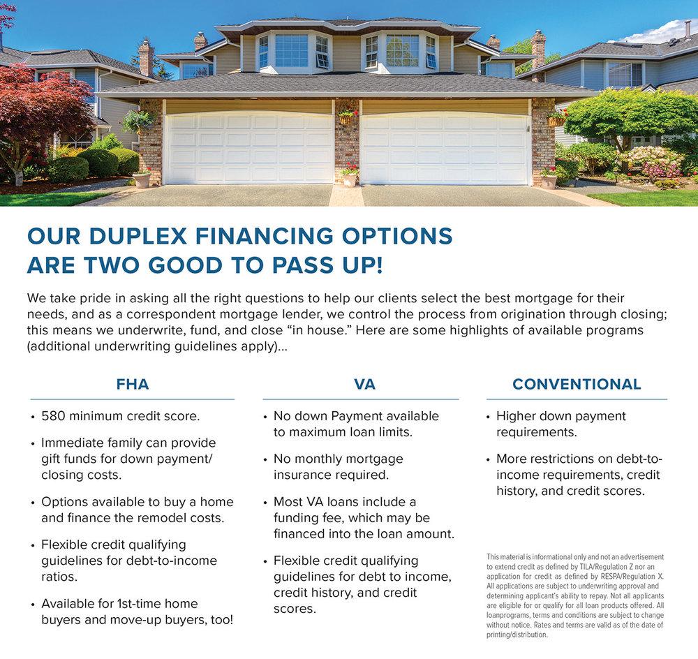 Mortgage Products - Duplex Mortgage Program Options- ActOn.jpg